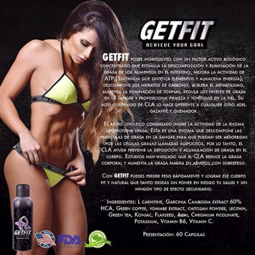GETFIT ADVANCED Natural Weight Loss Dietary Supplement 30 Capsules