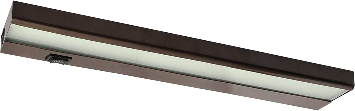 12 120v Direct Hard Wire Capable Led Inch Light Linkable Under Cabinet Bronze