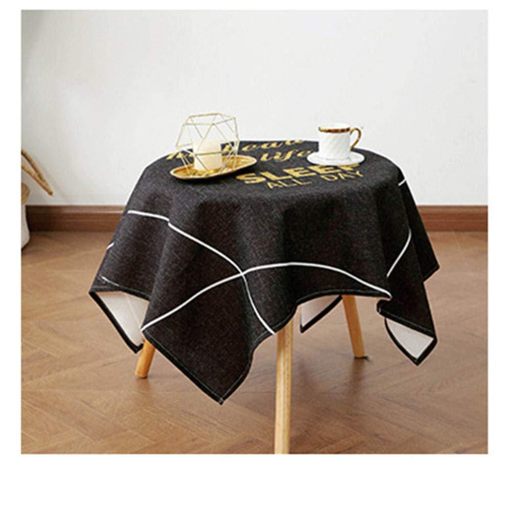 noire toile cirée nappe moderneNappe rectangulaire 200cm 140 L35AjR4