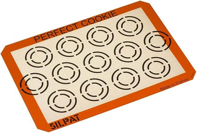 Silpat AE420295-12 Perfect Cookie Baking Sheet Orange