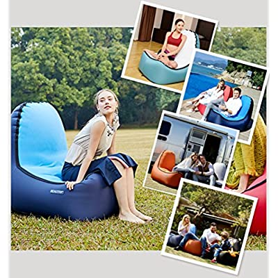 Grab a Comfy Seat with BeauTrip Outdoor Inflatable Lounge Chair – Incredible Ergonomic Design Air Lounger Sofa – Ideal Picnic/Camping/Beach Chairs, Air Hammocks – Hangout and Enjoy Great Outdoors: Kitchen & Dining