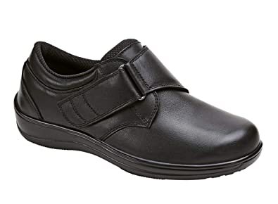092656e0f6 Orthofeet Arcadia Comfort Wide Orthopedic Diabetic Walking Womens Shoes  Black Leather 5 M US