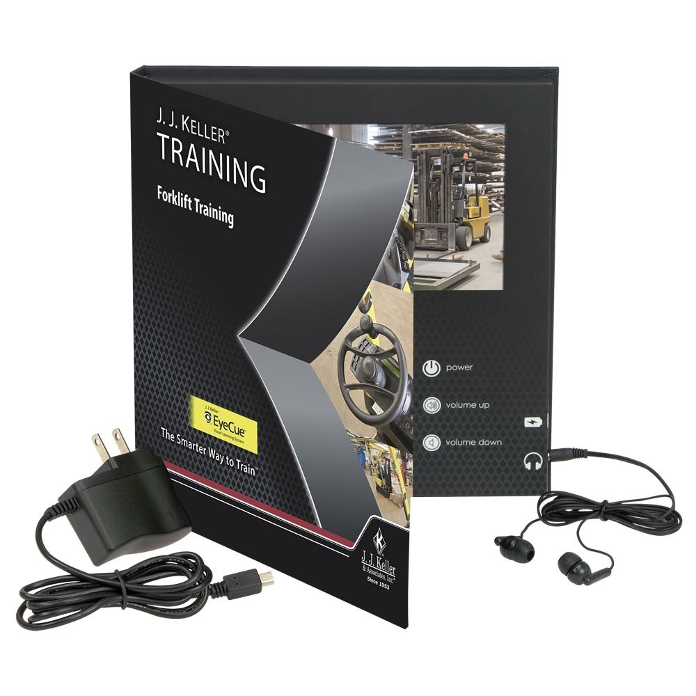 Forklift Training - Video Book - A new approach to forklift training. Enhanced with the EyeCue Visual Learning System. J. J. Keller & Associates, Inc.