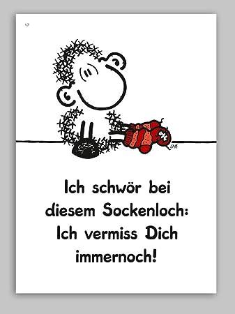 Sheepworld Postkarte Ich Vermiss Dich Immernoch Nr 47 Amazonde