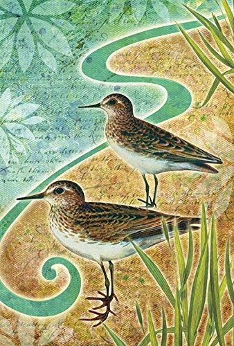 andpipers 12.5 x 18 Inch Decorative Summer Beach Bird Garden Flag ()
