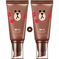 Missha M Perfect Cover BB Cream #21[2PK] SPF 42 PA+++(50ml) (LINE FRIENDS Edition)-Lightweight, Multi-Function, High…