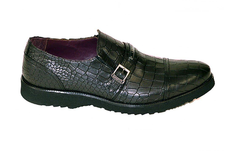 - Bagatto 2705 Black Leather Italian Designer Men's shoes