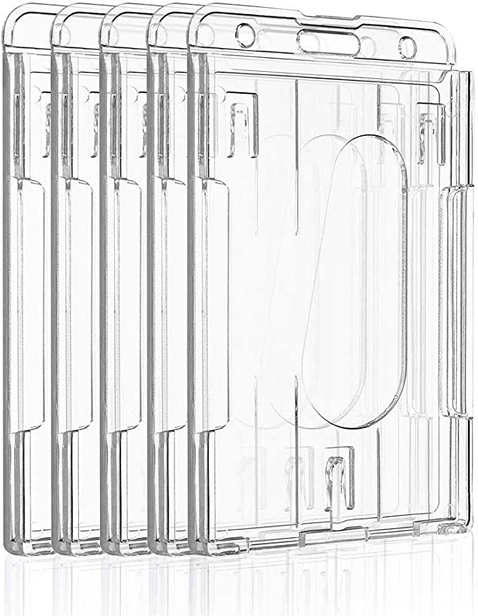 Details about  /ID Card Holder lot of 5 clear pvc Waterproof Vertical USA SELLER FAST SHIPPING