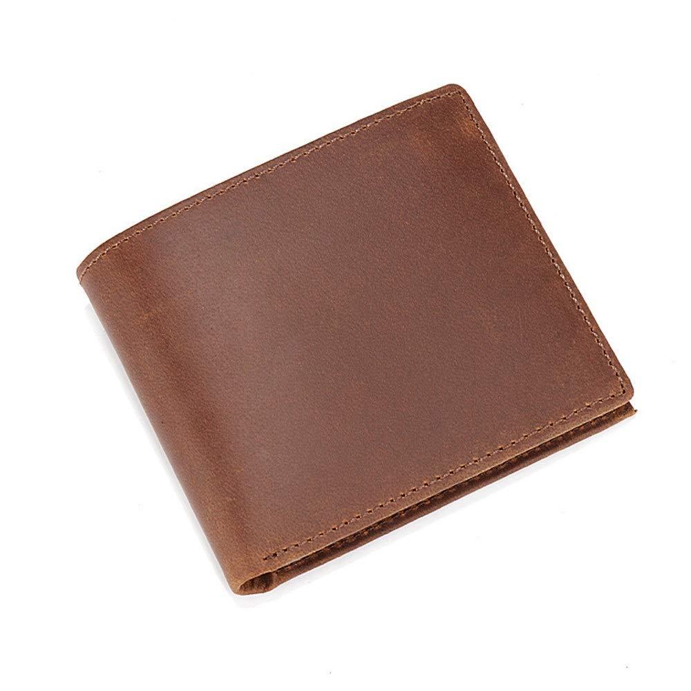 dcfee04340fd Amazon.com: Men's Purse Men's Leather Wallet Business Casual Short ...