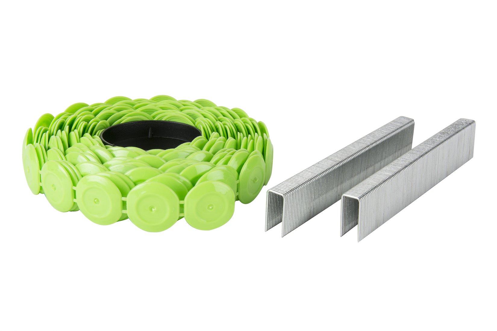 Hitachi 31105S 1-1/4'' x 18 GA EG Staple & Plastic Cap 2,000 Count by Hitachi