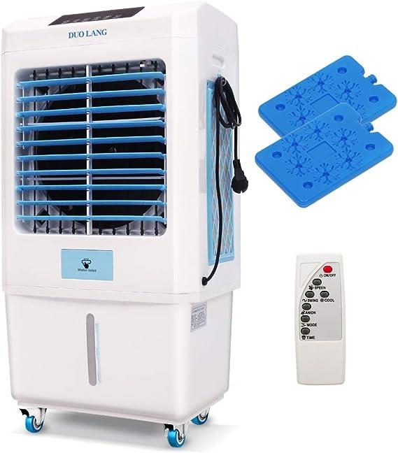 DUOLANG 2059 CFM refrigerador portátil para interiores con ventilador de torre y aire acondicionado, humidificador y soplador para 323 pies cuadrados, control remoto ...