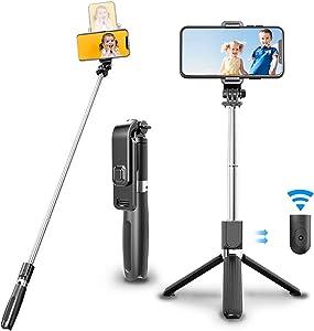 Selfie Stick Tripod with Wireless Remote Bluetooth Selfie Stick for iPhone X/XR/XS/8/8 Plus/7/7 Plus,Galaxy S9/S9 Plus/S8/S8 Plus/Note8