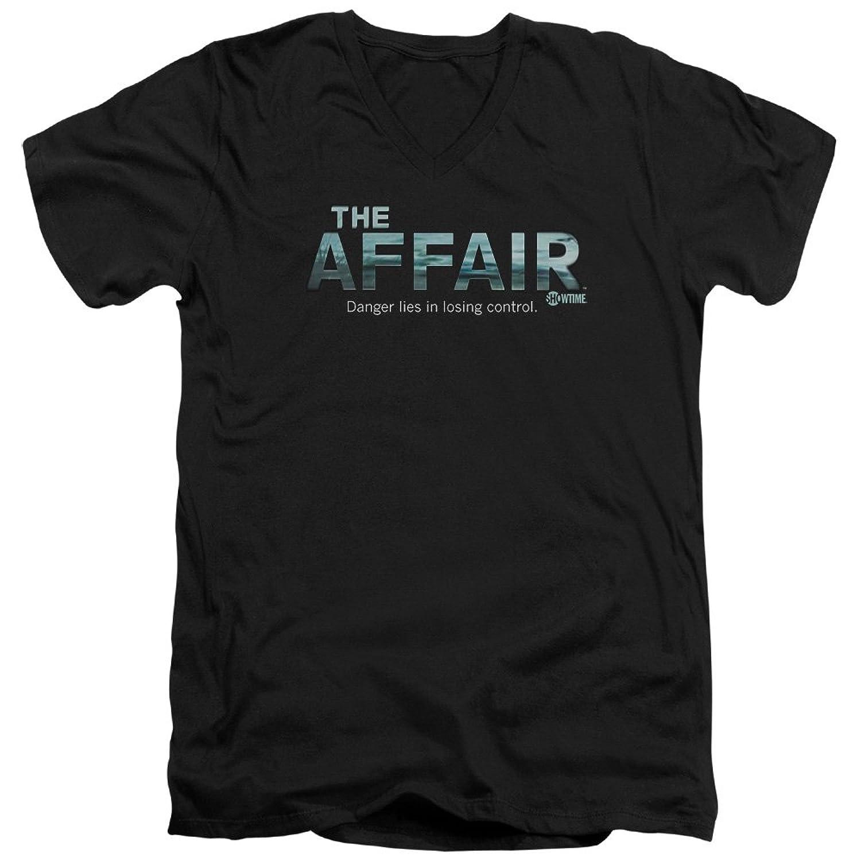 The Affair Showtime Drama Series Ocean Logo Adult V-Neck T-Shirt Tee