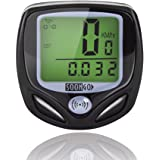 Bike Computer Speedometer Wireless Water-proof Bicycle Odometer Cycle Computer Multi Function with Large LCD Display by SOONGO