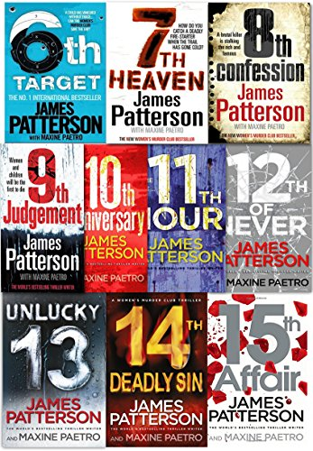 James Patterson Women's Murder Club Series 10 Books