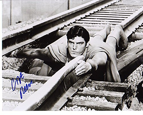 Christopher Reeve Signed Autographed Superman RR Tracks 8 x 10 Glossy Photo by AuthenticSigs77