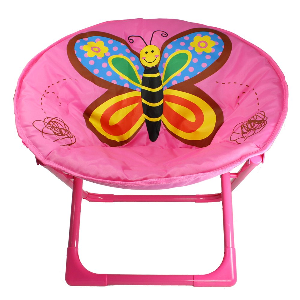 Toddlers Saucer/Folding Chair with Butterfly Design
