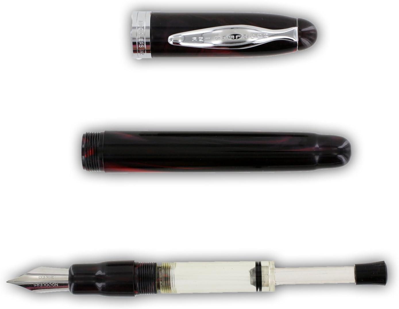 Luxury Brands Noodlers Ahab Flex Nib Fountain Pen Lapis Medieval 15027 Fine Nib Blue and Black