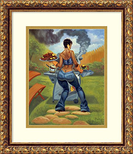 Framed Art Print 'BBQ' by Sterling Brown