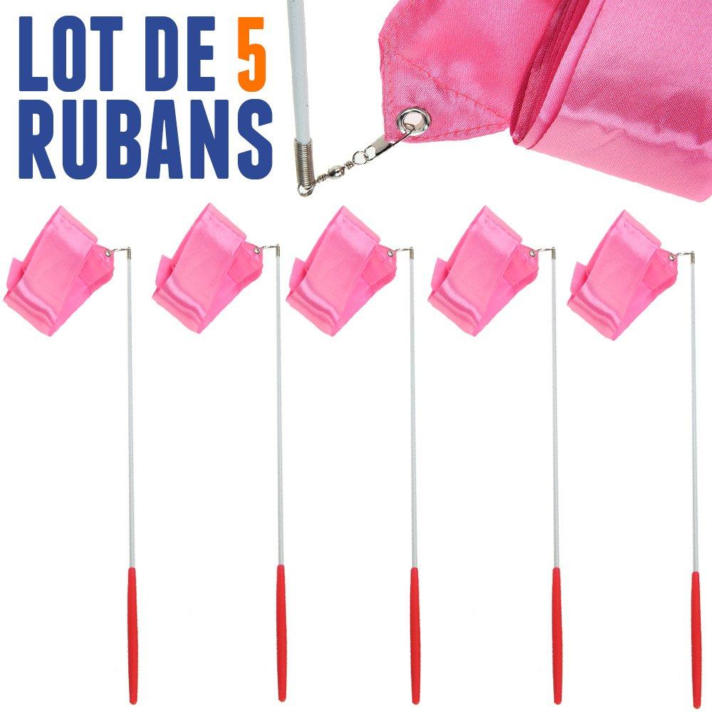NetJuggler Lot DE 5 Rubans de GRS 4 Mètres Rose