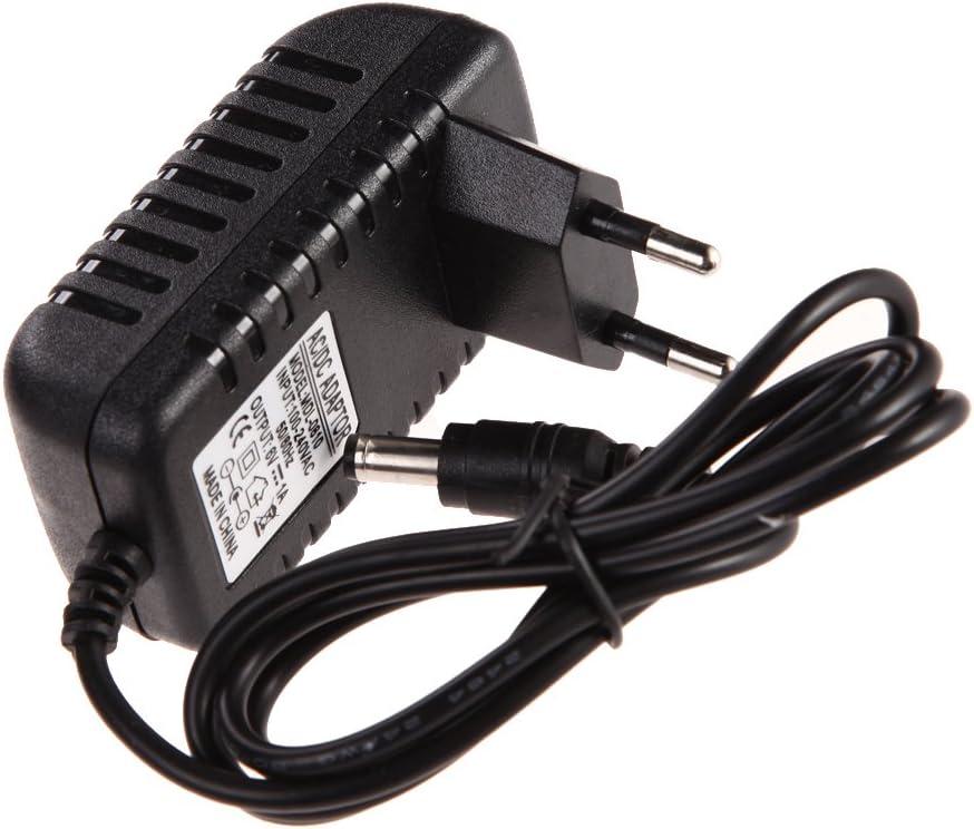 Akaddy Fuente de alimentaci/ón conmutada Power Adapter AC 100-240V Adaptador convertidor DC 5.5 x 2.5MM 6V 1A 1000mA Cargador Enchufe de la UE