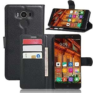 Supremery caso para Elephone P9000 de protección estuche de transporte - la cubierta del tirón en negro con cierre magnético, función de estado, tarjetas de dinero doblez