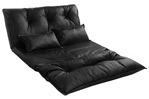 amazoncom merax pu leather adjustable floor sofa bed lounge sofa bed floor lazy man couch with pollowsblack kitchen dining. Interior Design Ideas. Home Design Ideas