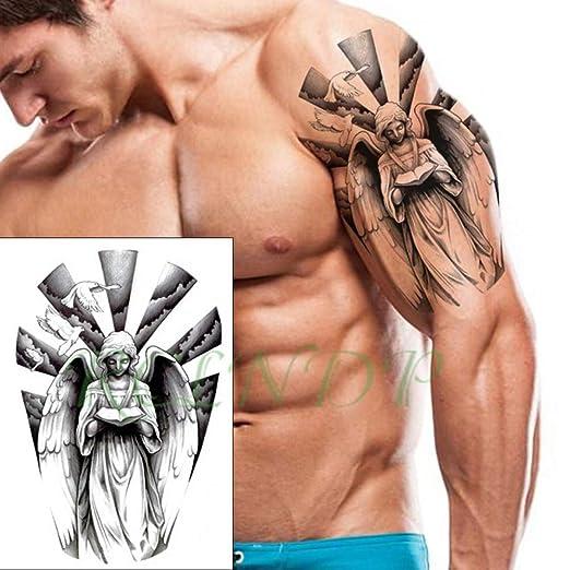 3 Piezas Etiqueta engomada del Tatuaje a Prueba de Agua Tinta Rosa ...