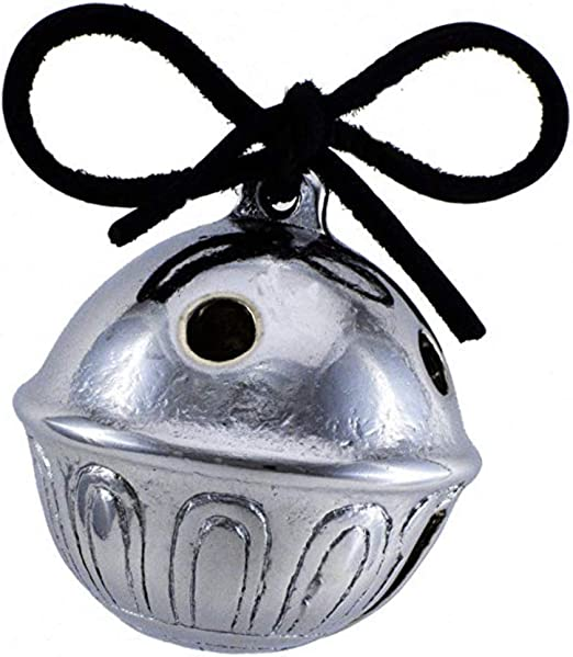 24 1.5 Inch Believe Bell Ornaments Silver Sleigh Bell with Red Ribbon for Christmas Tree Home Decoration