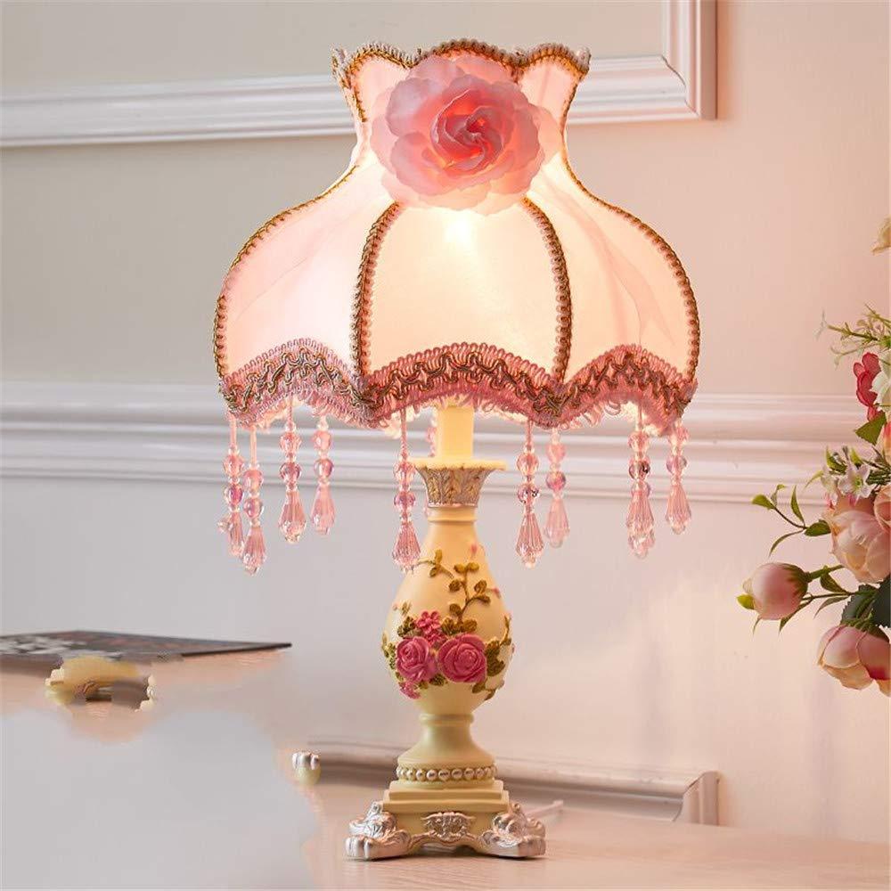Eeayyygch Nachttisch und Tischlampen Tischlampe Schlafzimmer Nachttischlampe Creative Warm and Romantic, S, Button Style Warm (Farbe   X, Größe   Dimming)