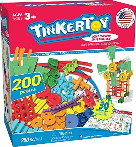 Tinkertoy 30 Model, 200 Piece, Super Building Set by Tinkertoy