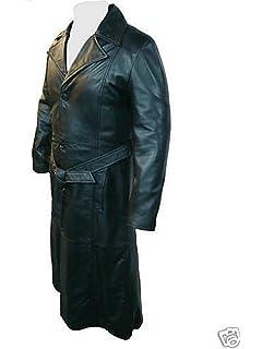 5273021dccb Unicorn London Unicorn Mens Film Movie Style Blade Full Length Real Leather  Coat Jacket #B1