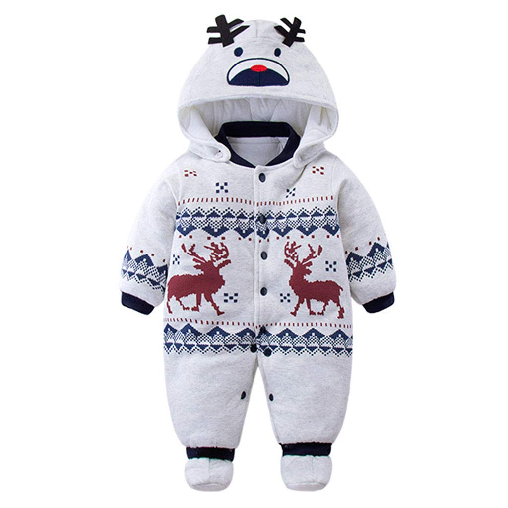 Baby Girls Boys Romper Newborn Thicken Snowsuit Fall//Winter Infant Jumpsuits Outfit 3 Months
