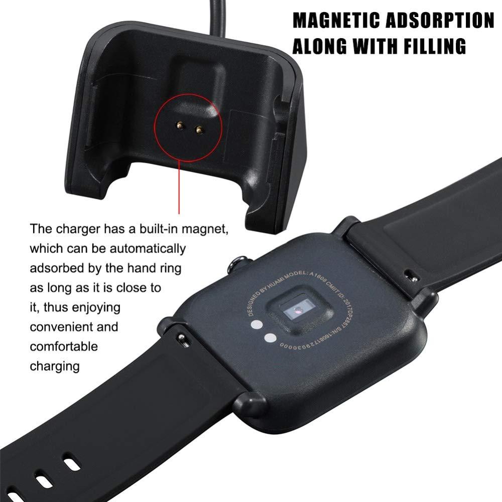 XZANTE Carga USB Cable Cuna Cargador De Muelle para Huami Amazfit Bip Reloj Inteligente Edición Juvenil Banda Inteligente Cargadores