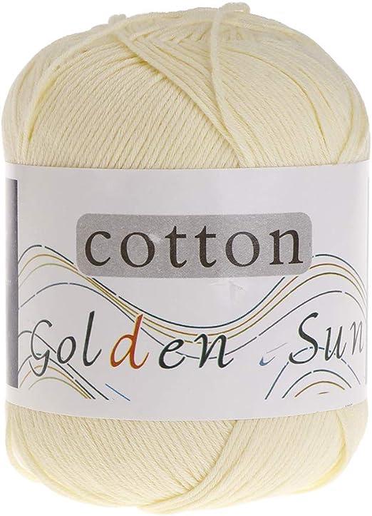 Ycncixwd - Ovillo de lana para tejer a mano (50 g, 100% algodón ...