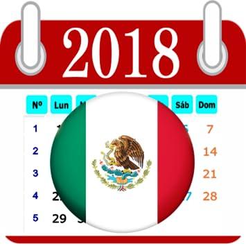 Calendario 2o18.Amazon Com Calendario 2018 Mexico Dias Feriados Appstore