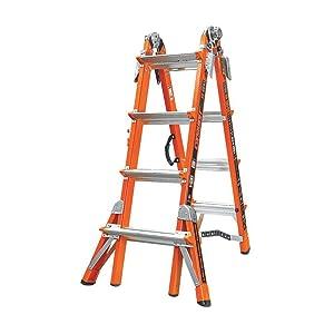 Little Giant, 15144-186, Multipurpose Ladder, 17 Ft, Fiberglass
