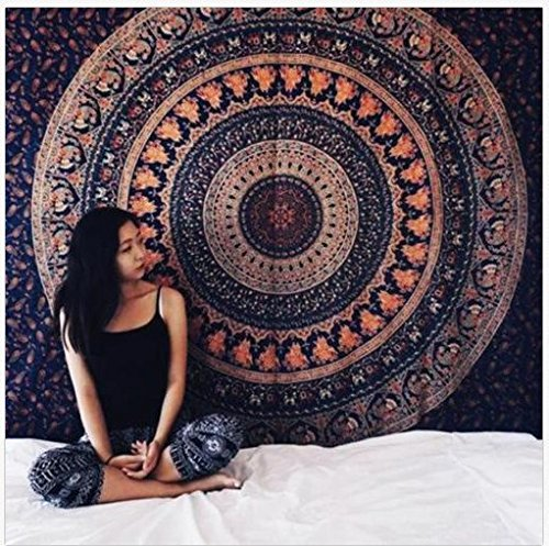 148cm Mandala Hippie Tapestry Wall Shawl Indian Round Hanging Throw Towel Boho Beach Yoga Mat Wrap Home Decor Pashmina Moderate Cost Apparel Accessories