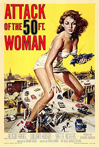 Attack of the 50 Foot Woman POSTER Movie (27 x 40 Inches - 69cm x 102cm) ()