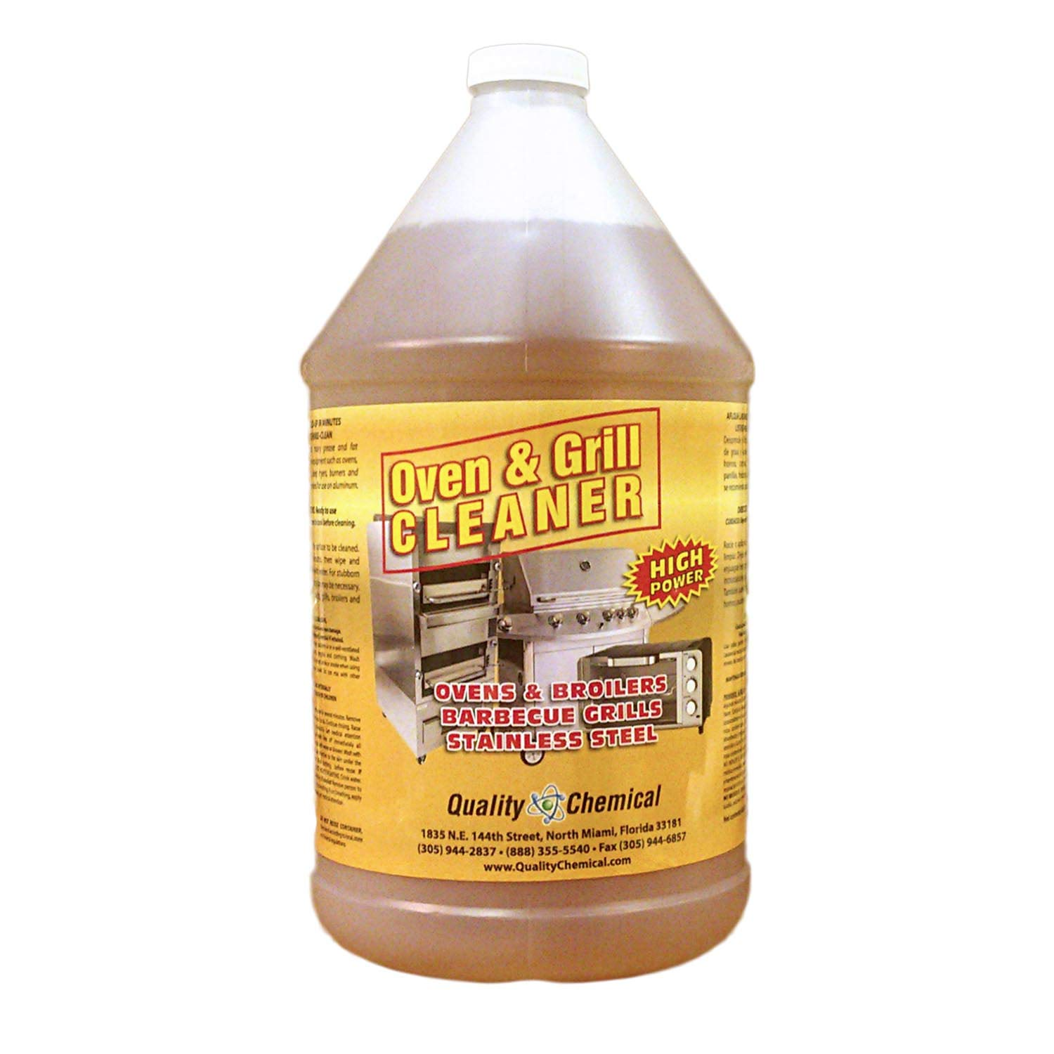 Oven & Grill Cleaner Heavy-Duty. High Power! Nothing Stronger.-1 gallon (128 oz.)