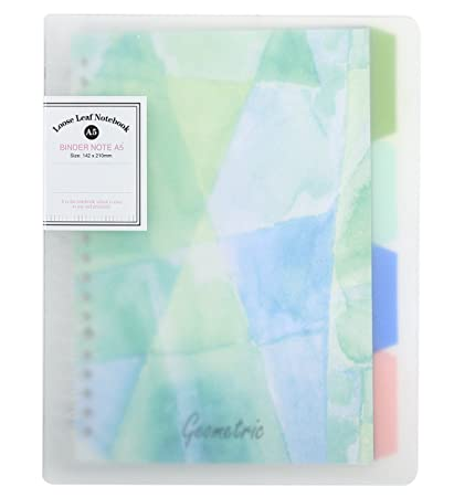 amazon com cute refillable notebook loose leaf binder college
