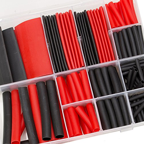 SwitchMe 198Pcs 3:1 Heat Shrink Tubing Double-wall Adhesive Lined Shrink Wrap Tubing Assortment Kit 7 Size 1'' 3/4'' 1/2'' 3/8'' 1/4'' 3/16'' 1/8'' Mix Black Red by SwitchMe (Image #5)