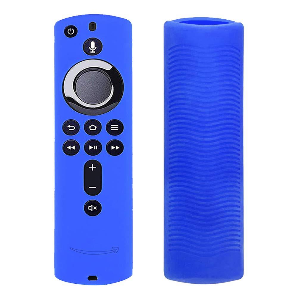 Matedepreso - Cover in Silicone Antiscivolo per Telecomando Fire TV Cube, Blue, Taglia Libera