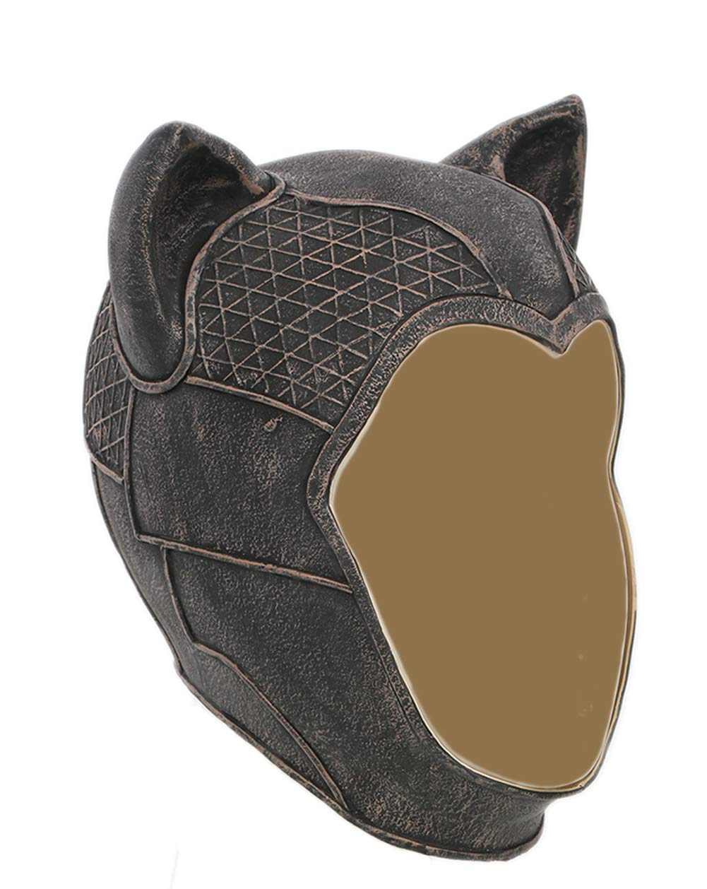 Cat Mask Deluxe Black Latex Women Full Head Cosplay Accessory for Adult Xcoser