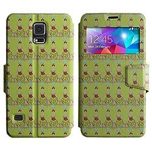 LEOCASE mujer elegante Funda Carcasa Cuero Tapa Case Para Samsung Galaxy S5 I9600 No.1003094