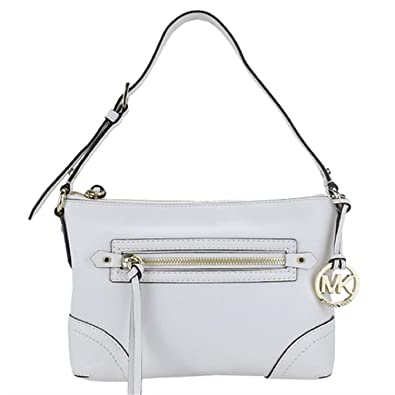 8d8849d579266 Amazon.com  NEW AUTHENTIC MICHAEL KORS MEDIUM FALLON LEATHER SHOULDER HOBO  (Optic White)  Shoes