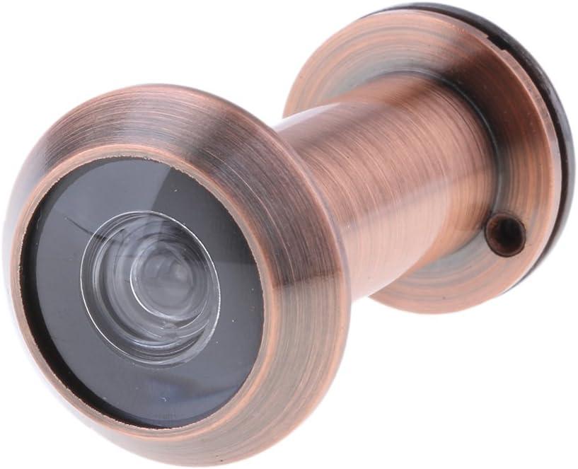 HD Visor para Puerta de Entrada Mirilla de Gran /Ángulo de 200 /° para Agujero de 14mm Cobre rojo