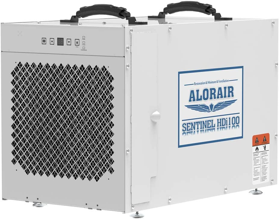 AlorAir Sentinel HDi100 Whole Home Dehumidifier, 100 Pints at AHAM, up to 2,900 sq. ft. 5 Years Warranty, cETL Listed, Basement Dehumidifier with a Pump, Remote Control, Crawl Space Dehumidifying