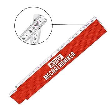 Zollstock mit Motiv Glieder-Ma/ßstab mit Namen bedruckt Viele Namen zur Auswahl Bester Bodenleger f/ür M/änner Meterma/ß