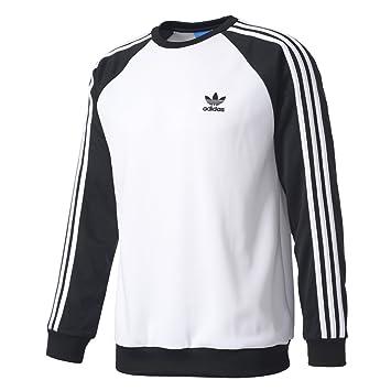 adidas SST Crew Sudadera, Hombre, (Blanco/Negro), S: Amazon.es: Deportes y aire libre